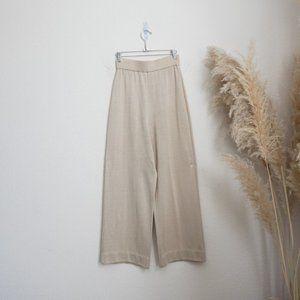 Vintage wide leg knit trousers